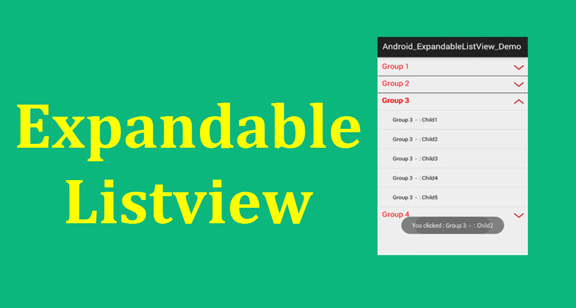Expandable ListView